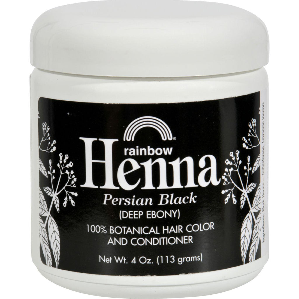 Rainbow Research Henna Hair Color And Conditioner Persian Black Deep Ebony - 4 Oz-Rainbow Research-pantryperks