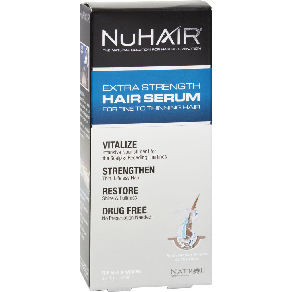 Nuhair Extra Strength Thinning Hair Serum For Men And Women - 3.1 Fl Oz-Nuhair-pantryperks
