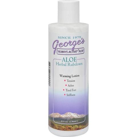 George's Aloe Vera Herbal Rubdown - 8 Fl Oz-George's Aloe Vera-pantryperks