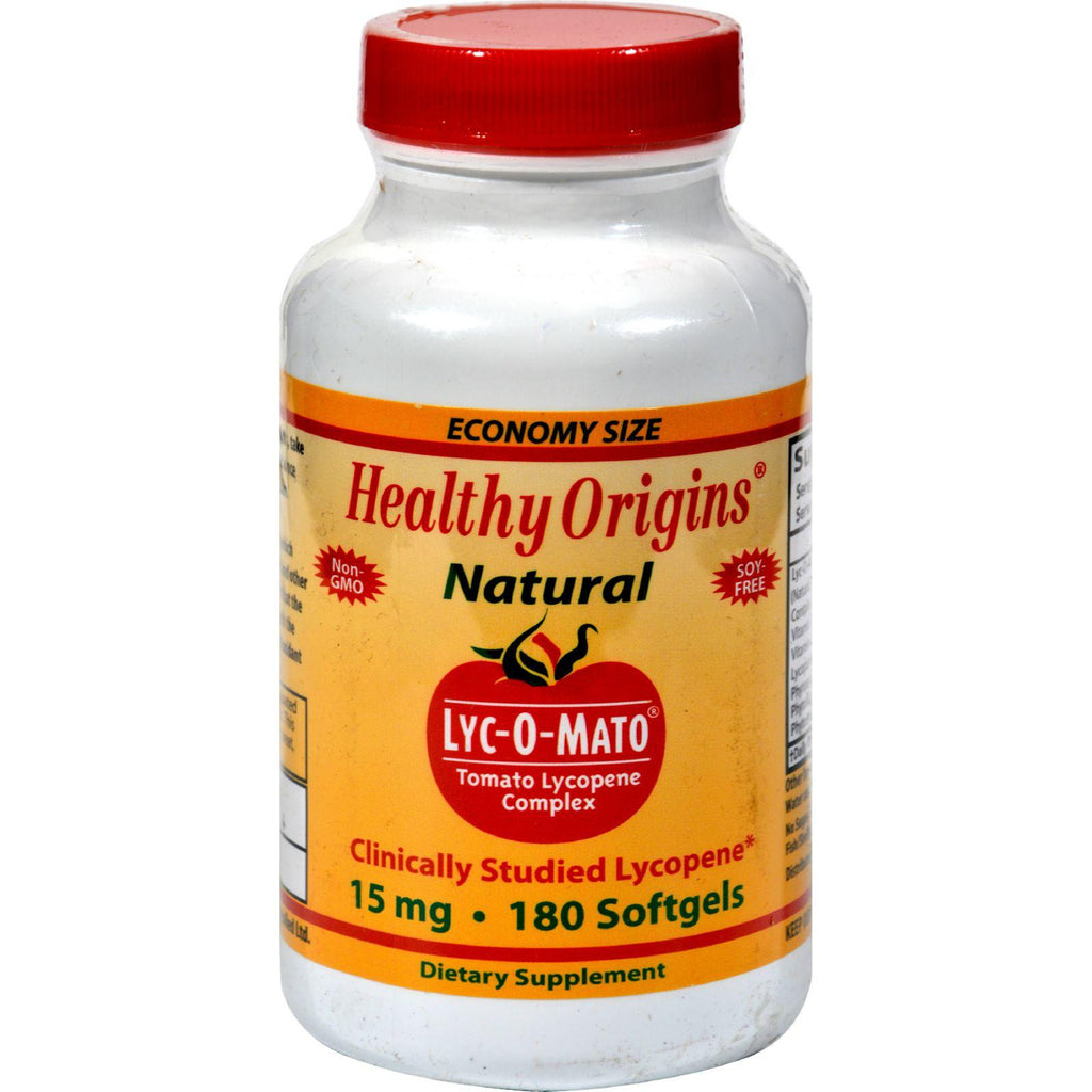 Healthy Origins Lyc-o-mato - 15 Mg - 180 Softgels-Healthy Origins-pantryperks
