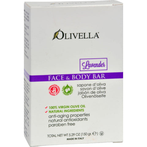 Olivella Face And Body Bar Soap Lavender - 5.29 Oz-Olivella-pantryperks
