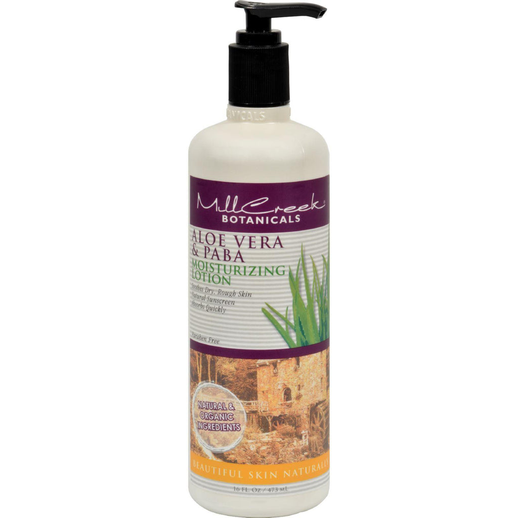 Mill Creek Aloe Vera And Paba Moisturizing Lotion - 16 Fl Oz-Mill Creek-pantryperks