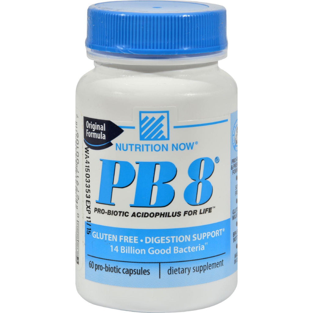 Nutrition Now Pb 8 Pro-biotic Acidophilus For Life - 60 Capsules-Nutrition Now-pantryperks
