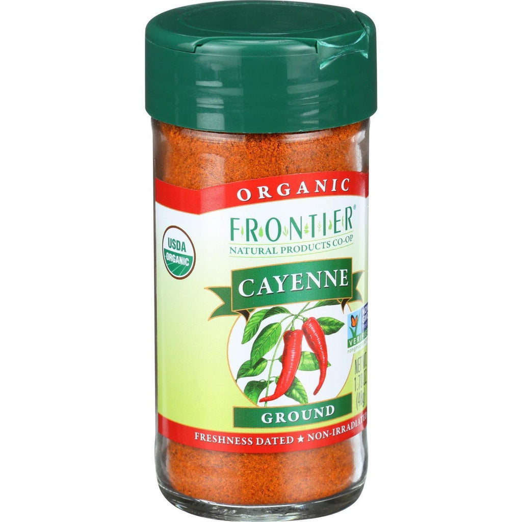 Frontier Co-Op Organic Cayenne Ground - 1.7 oz-Frontier Herb-pantryperks