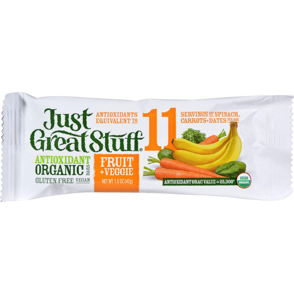 Betty Lou's Bar - Organic Fruit And Veggie - Case Of 12 - 1.5 Oz-Betty Lou's-pantryperks