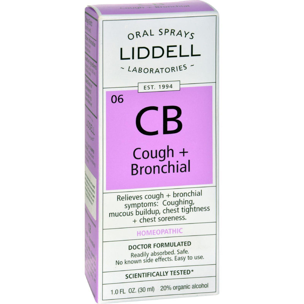 Liddell Homeopathic Cough And Bronchial Spray - 1 Fl Oz-Liddell Homeopathic-pantryperks