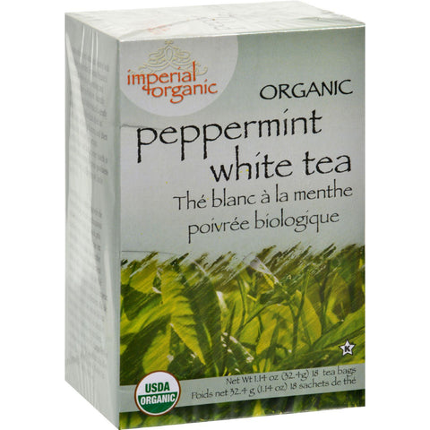 Uncle Lee's Imperial Organic Peppermint White Tea - 18 Tea Bags-Uncle Lee's Tea-pantryperks