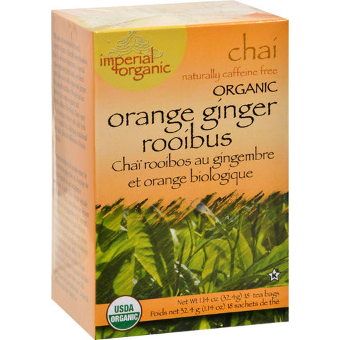 Uncle Lee's Imperial Organic Orange Ginger Rooibus Chai Tea - 18 Tea Bags-Uncle Lee's Tea-pantryperks