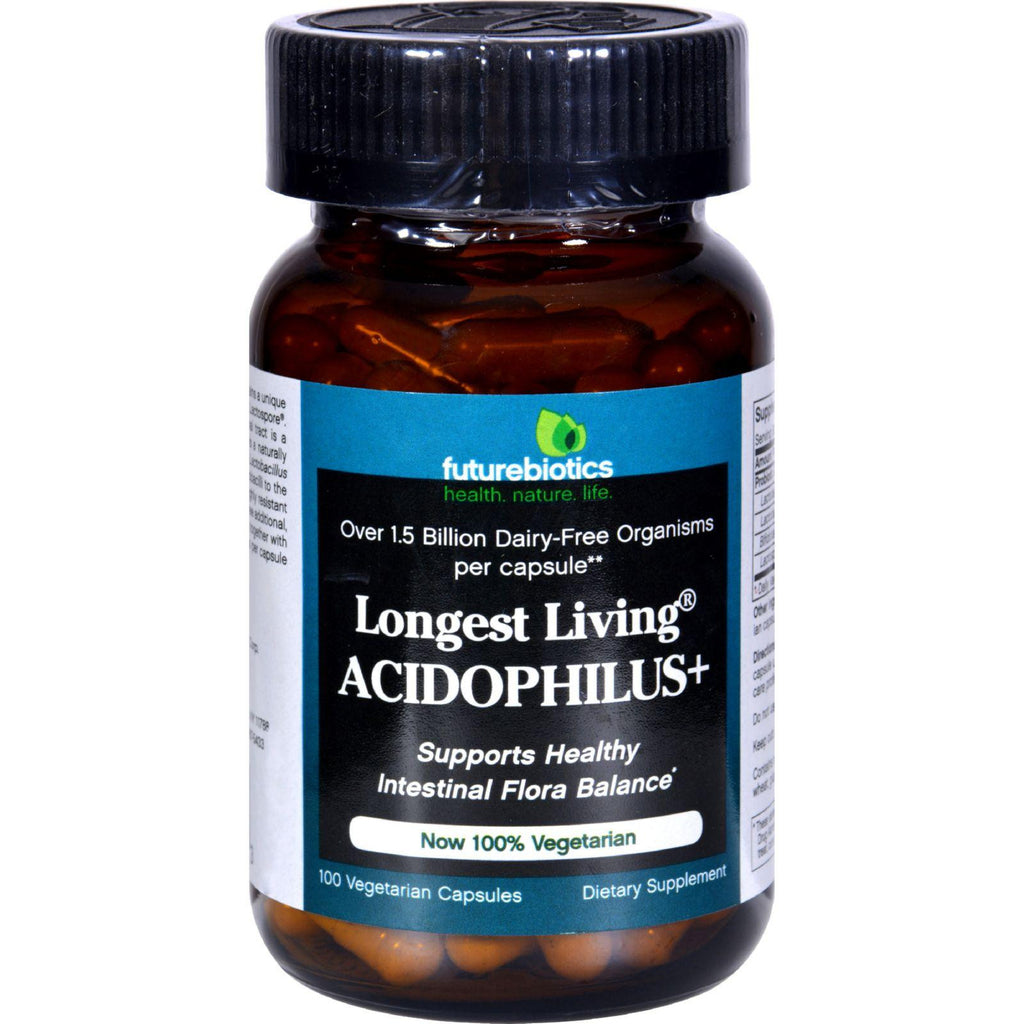 Futurebiotics Longest Living Acidophilus Plus - 100 Capsules-Futurebiotics-pantryperks
