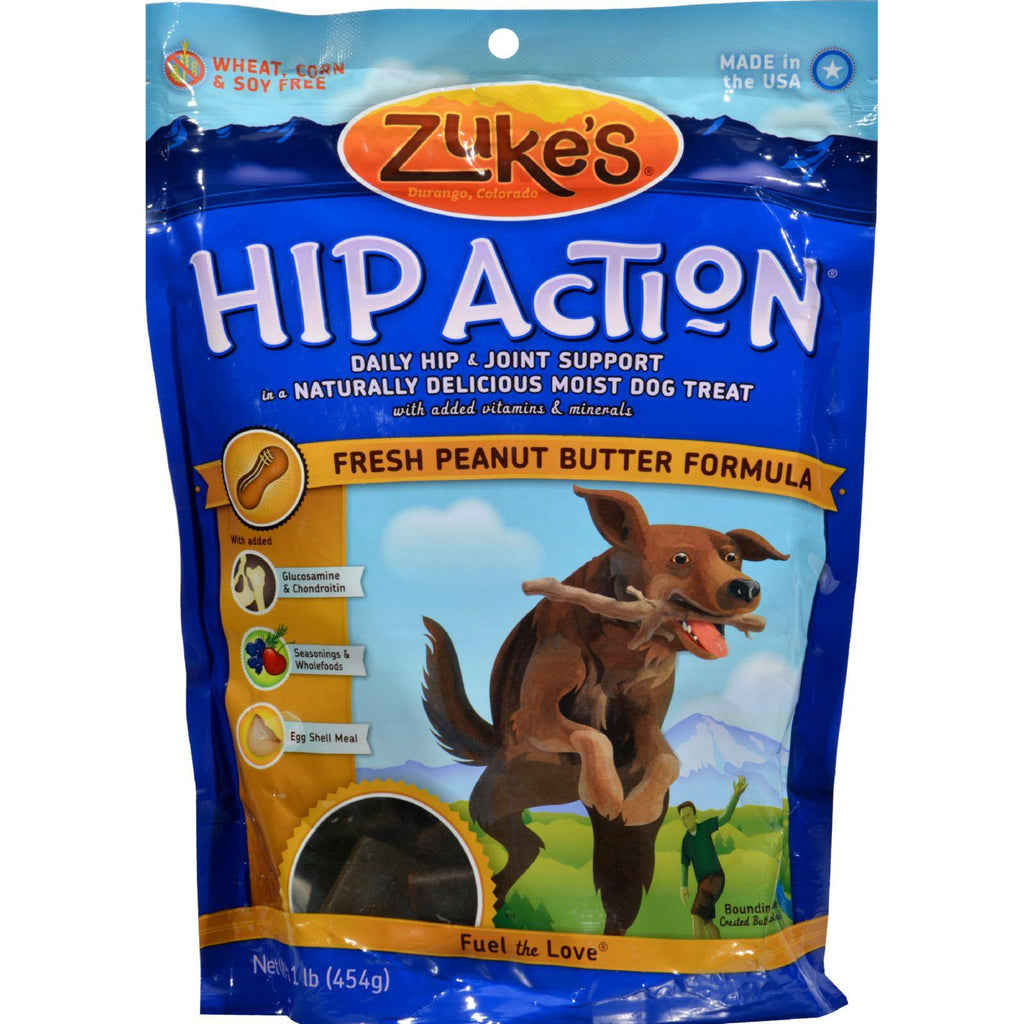 Zuke's Hip Action Dog Treats Peanut Butter - 16 Oz-Zuke's-pantryperks