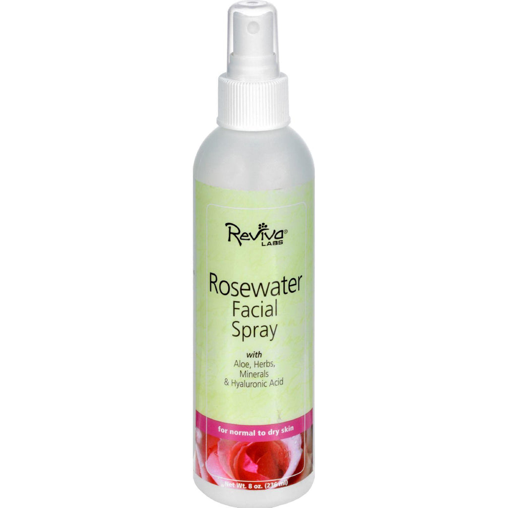 Reviva Labs Facial Spray Rosewater - 8 Fl Oz-Reviva Labs-pantryperks
