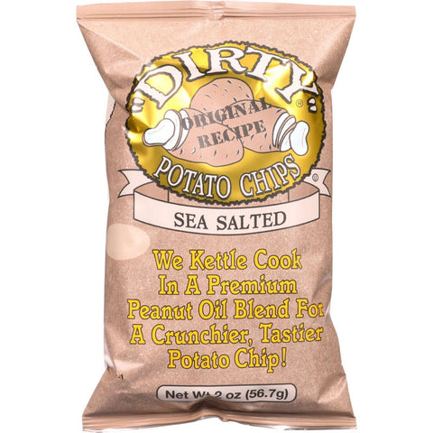 Dirty Potato Chips Original Recipe Potato Chips Sea Salt - 2 oz-Dirty Chips-pantryperks