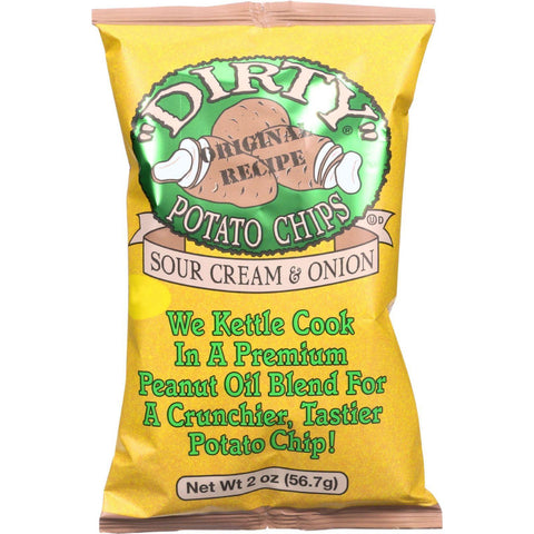 Dirty Potato Chips Original Recipe Potato Chips Sour Cream & Onion - 2 oz-Dirty Chips-pantryperks