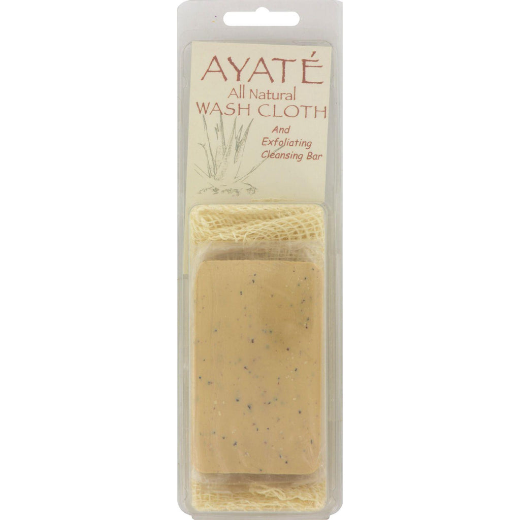 Thai Deodorant Stone Ayate All Natural Wash Cloth With Cleansing Bar - 1 Bar-Thai Deodorant Stone-pantryperks