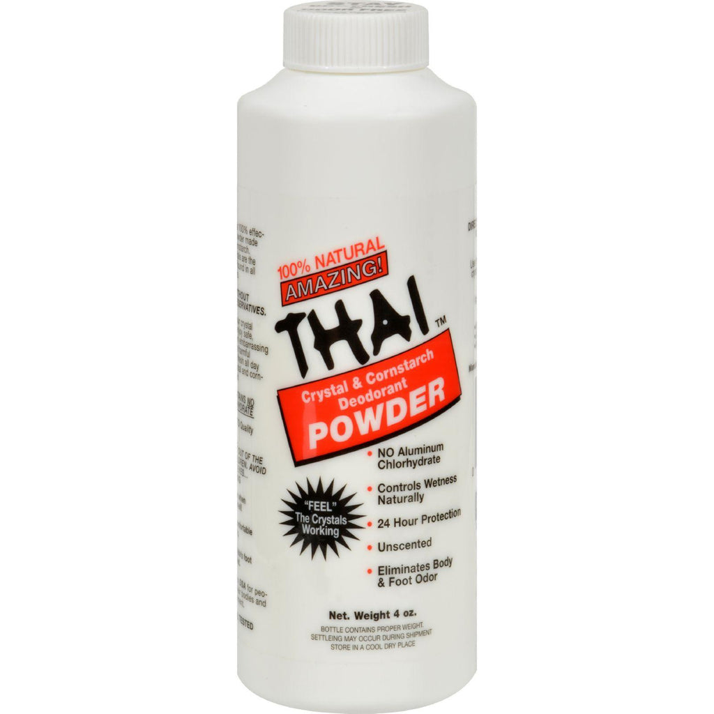 Thai Deodorant Stone Crystal And Corn Starch Deodorant Body Powder - 3 Oz-Thai Deodorant Stone-pantryperks