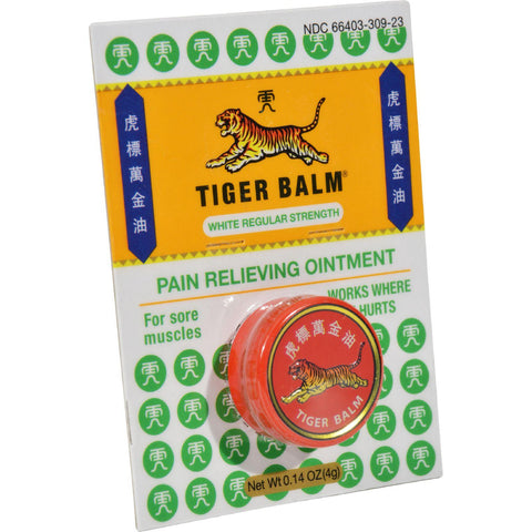 Tiger Balm Pain Relieving Ointment - White Regular Strength - .14 Oz-Tiger Balm-pantryperks
