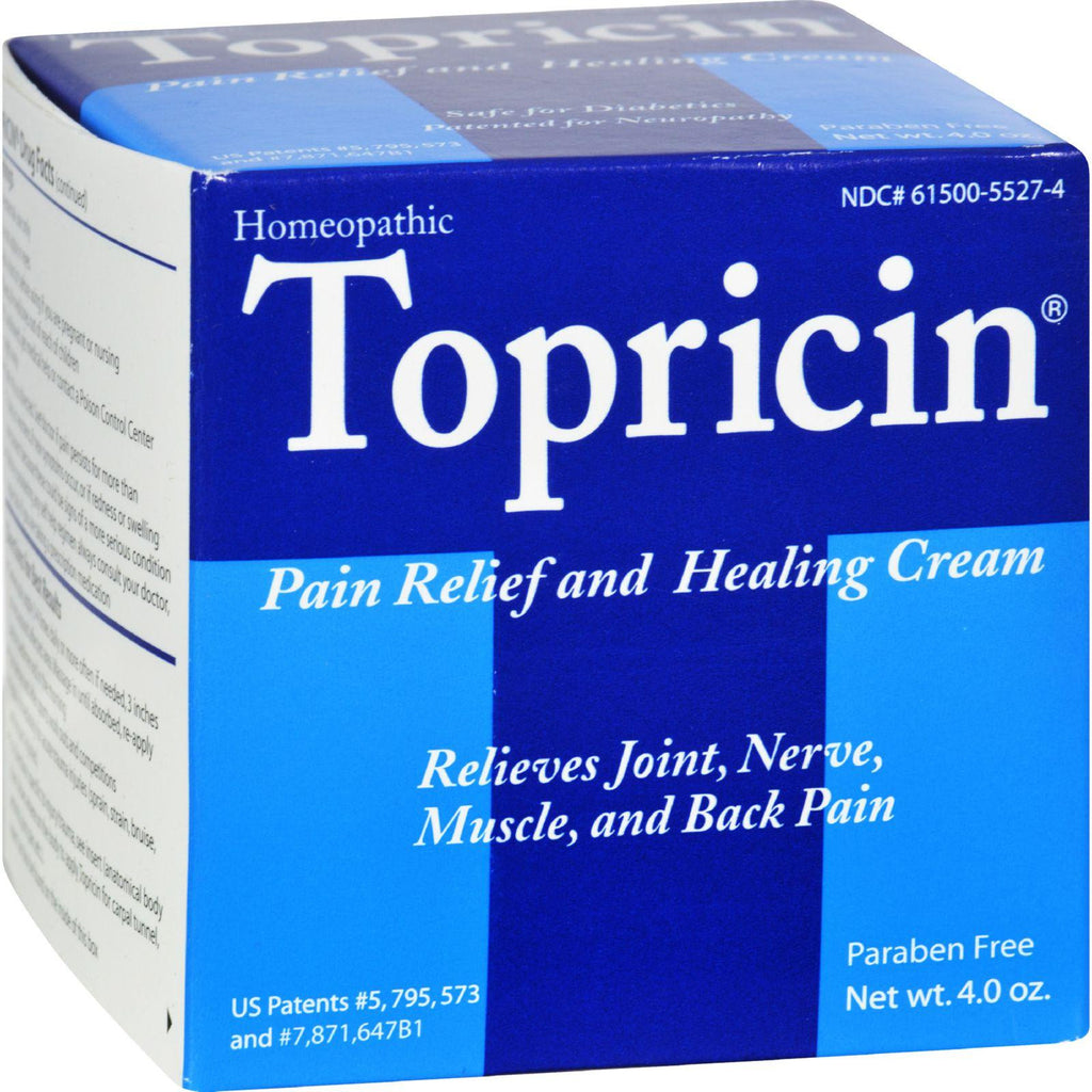 Topricin Pain Relief Therapy Cream - 4 oz for Arthritis - Back Pain - Fibromyalgia - Sciatica - Plantar Fasciitis - Sore Muscles & Joints - Carpal Tunnel & Chronic Pain-Topricin-pantryperks