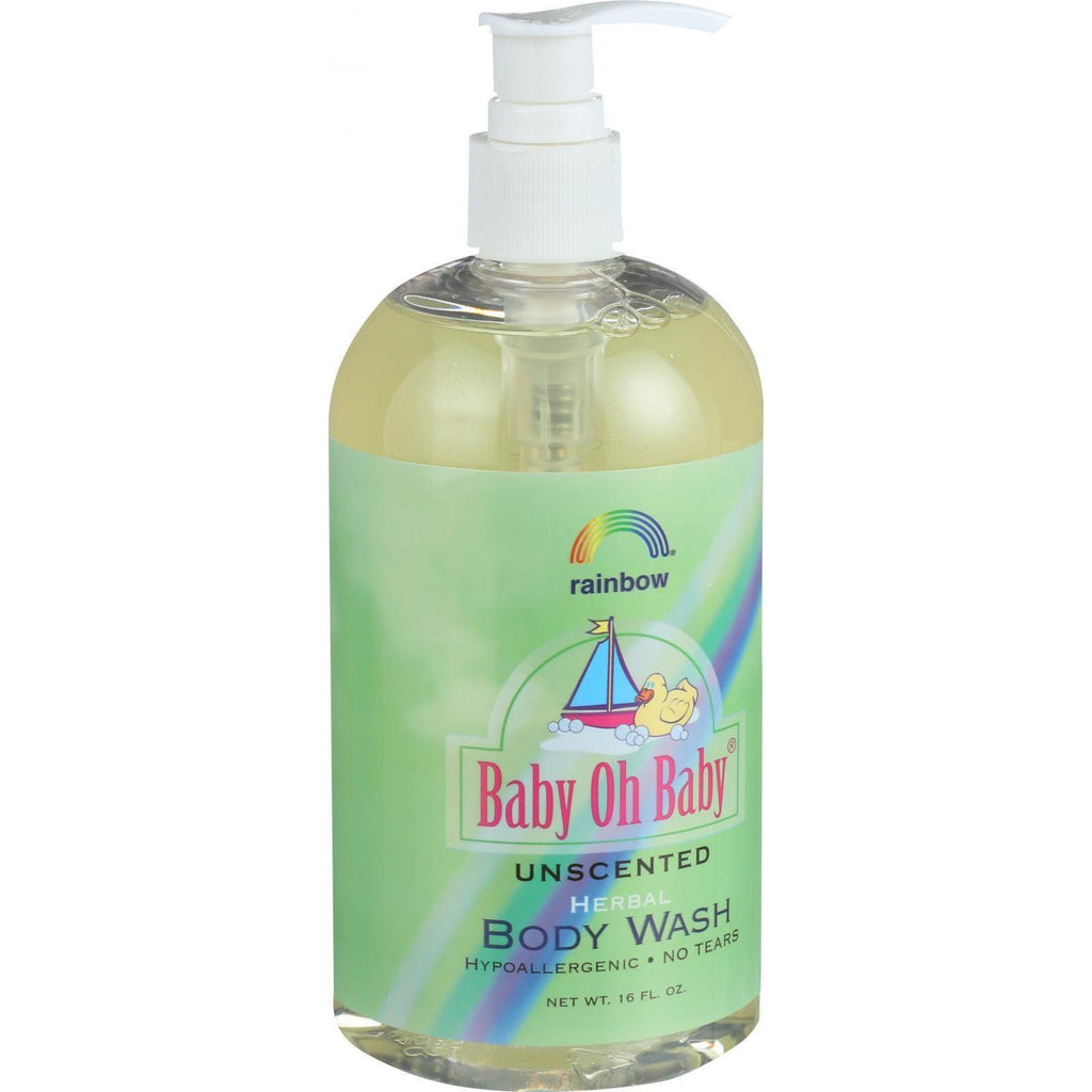 Rainbow Research Baby Oh Baby Herbal Body Wash - Unscented - 16 Oz-Rainbow Research-pantryperks