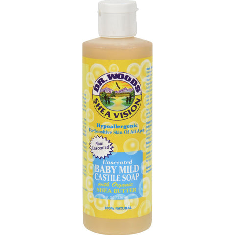 Dr. Woods Shea Vision Pure Castile Soap Baby Mild With Organic Shea Butter - 8 Fl Oz-Dr. Woods-pantryperks