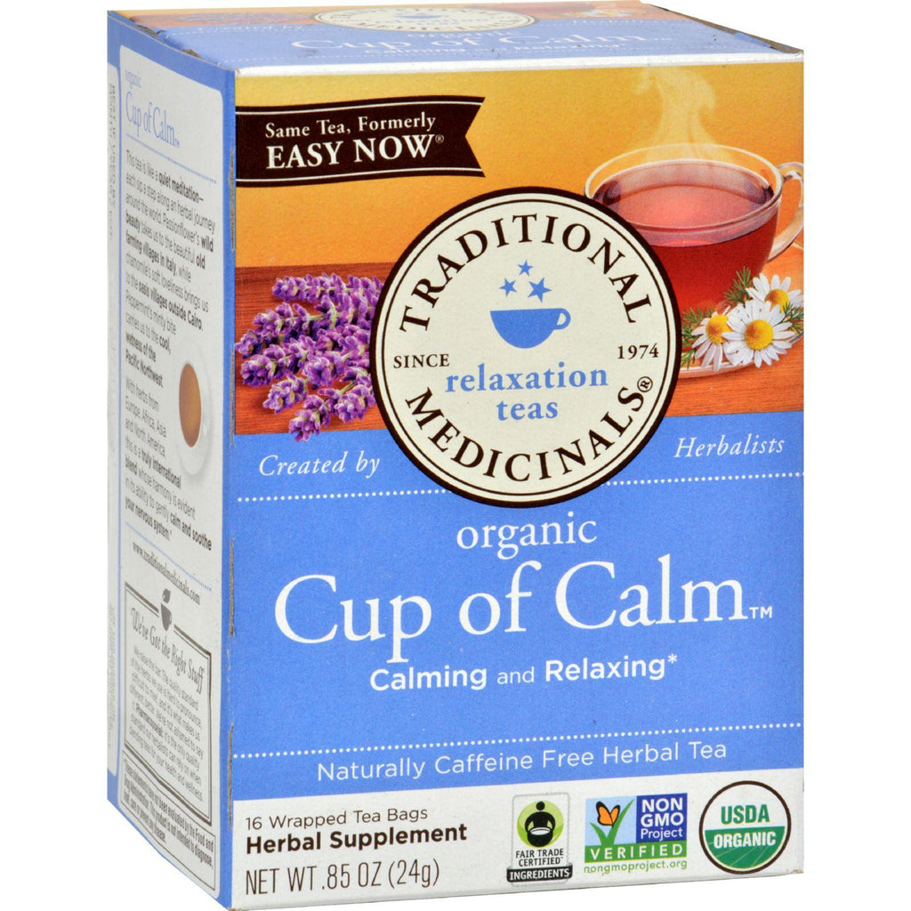 Traditional Medicinals Organic Easy Now Herbal Tea - Caffeine Free - 16 Bags-Traditional Medicinals-pantryperks