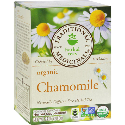 Traditional Medicinals Organic Chamomile Herbal Tea - 16 Tea Bags-Traditional Medicinals-pantryperks