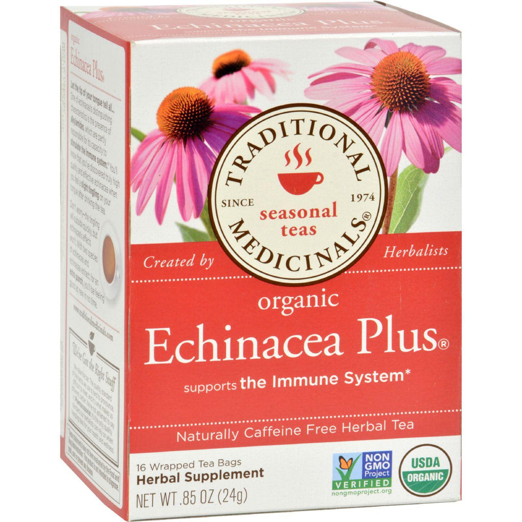 Traditional Medicinals Organic Echinacea Plus Tea - Caffeine Free - 16 Bags-Traditional Medicinals-pantryperks