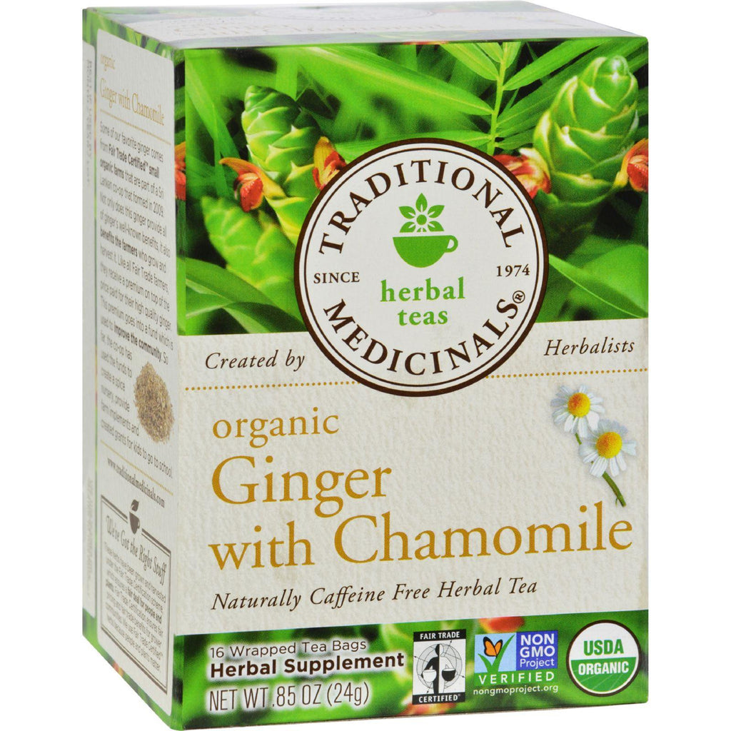 Traditional Medicinals Organic Golden Ginger Herbal Tea - 16 Tea Bags-Traditional Medicinals-pantryperks