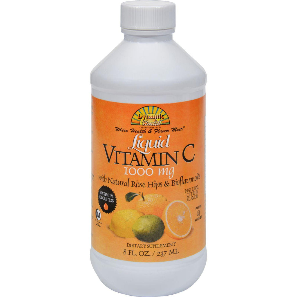 Dynamic Health Liquid Vitamin C Natural Citrus - 1000 Mg - 8 Fl Oz-Dynamic Health-pantryperks