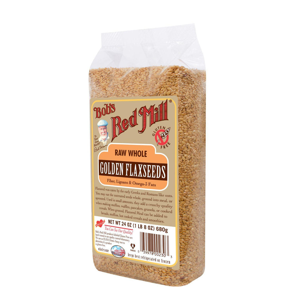Bob's Red Mill Raw Whole Golden Flaxseed - 24 Oz - Case Of 4-Bob's Red Mill-pantryperks