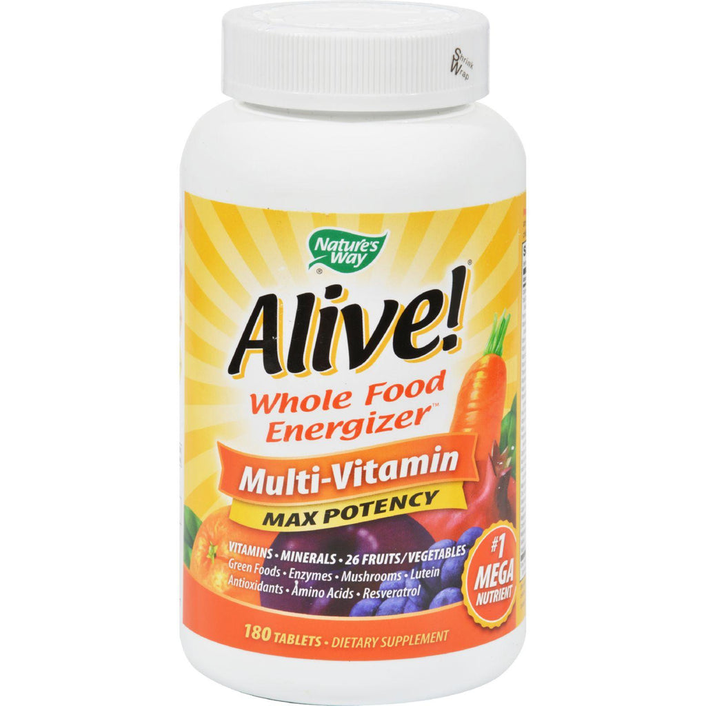 Nature's Way Alive!å¨ Max3 Daily Multi-Vitamin - 180 Tablets-Nature's Way-pantryperks