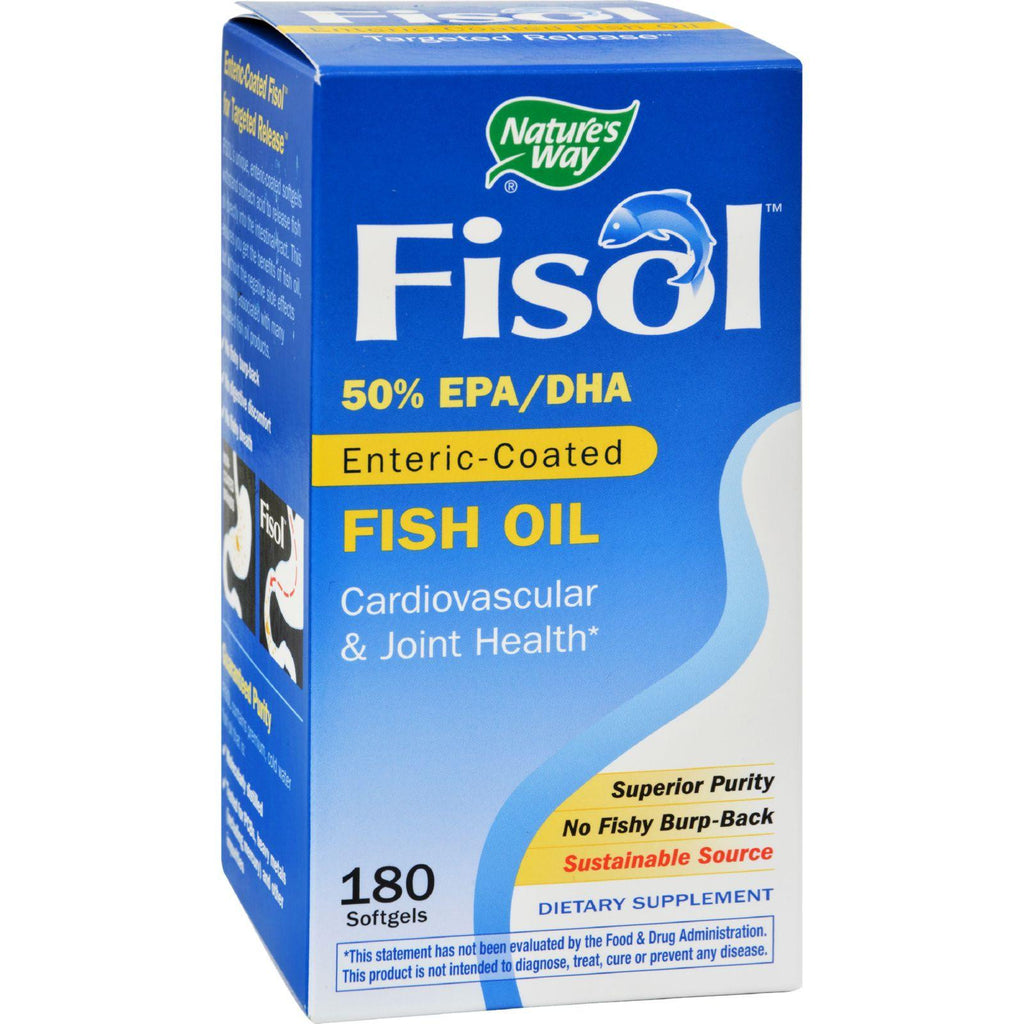 Nature's Way Fisol Fish Oil - 180 Softgels-Nature's Way-pantryperks