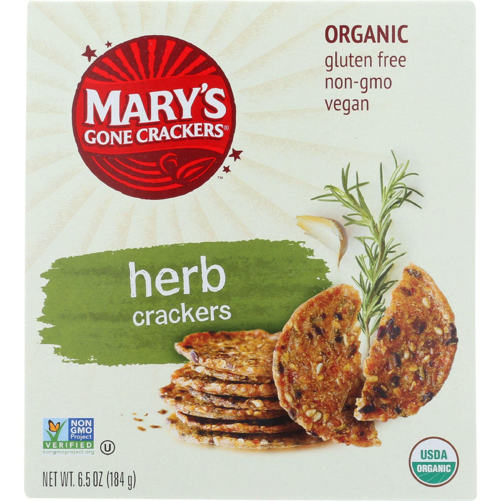 Mary's Gone Crackers - Herb - 6.5 Ounce-Mary's Gone Crackers-pantryperks