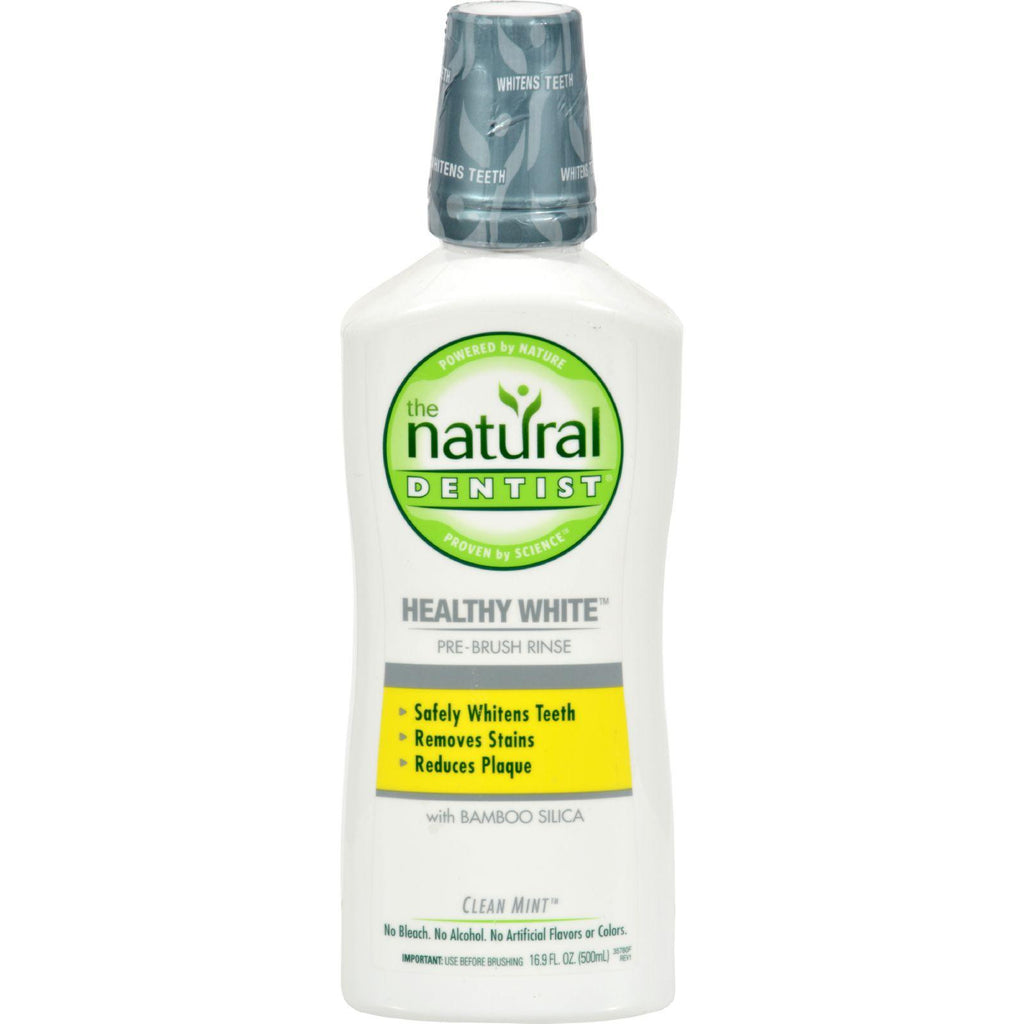 Natural Dentist Heathy White Pre-Brush Rinse Clean Mint - 16 fl oz-Natural Dentist-pantryperks