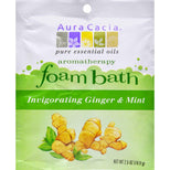 Aura Cacia Foam Bath Invigorating Ginger and Mint - 2.5 oz-Aura Cacia-pantryperks