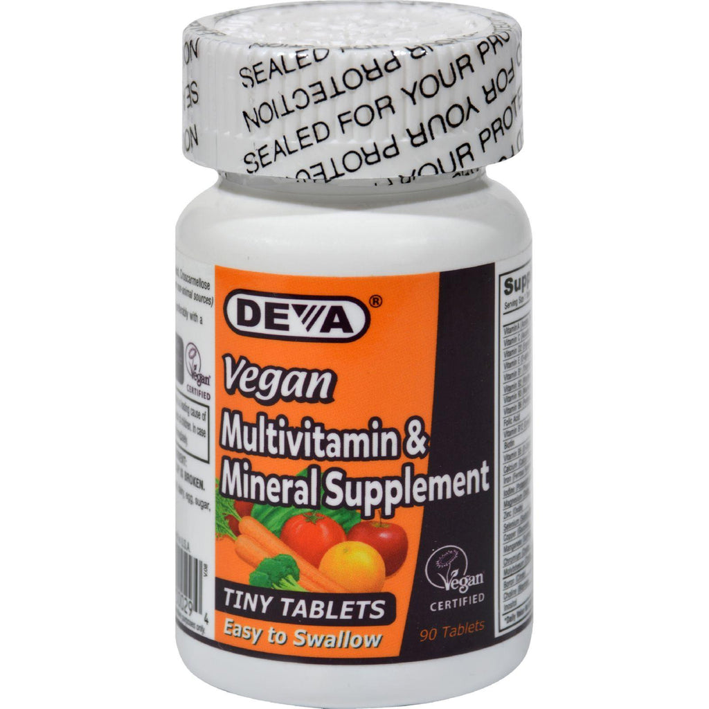 Deva Vegan Multivitamin And Mineral Supplement - 90 Tiny Tablets-Deva Vegan Vitamins-pantryperks