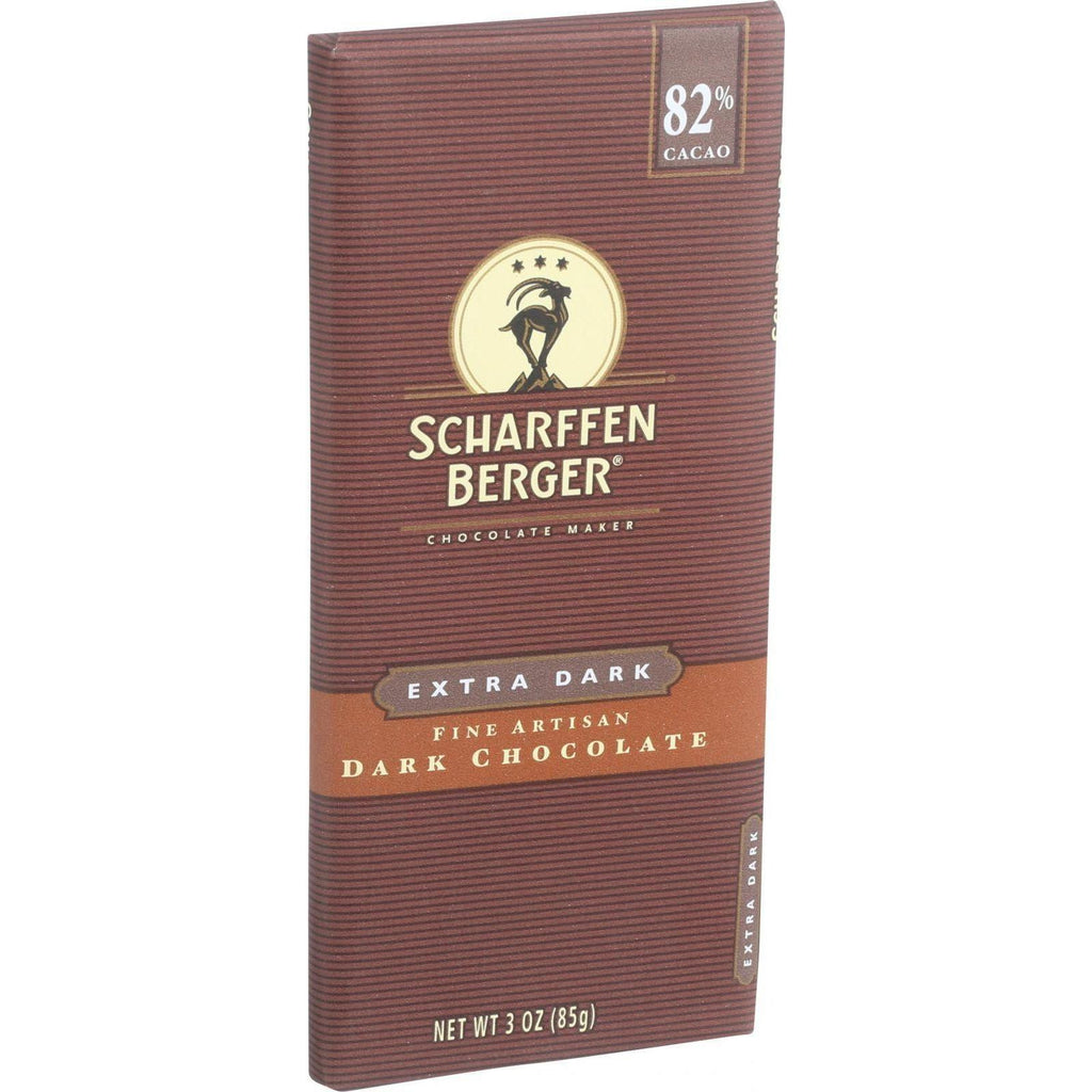 Scharffen Berger Chocolate Bar - Dark Chocolate - 82 Percent Cacao - Extra Dark - 3 Oz Bars - Case Of 12-Scharffen Berger-pantryperks