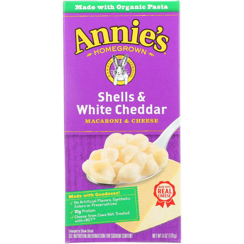 Annie's Homegrown Shells and White Cheddar - 6 oz-Annie's Homegrown-pantryperks
