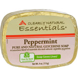 Clearly Natural Essentials Glycerine Bar Soap Peppermint - 4 oz-Clearly Natural-pantryperks
