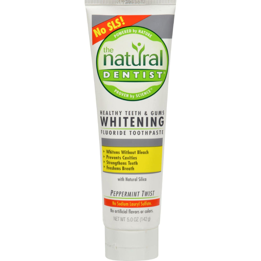Natural Dentist Healthy Teeth and Gums Whitening Toothpaste Peppermint Twist - 5 oz-Natural Dentist-pantryperks