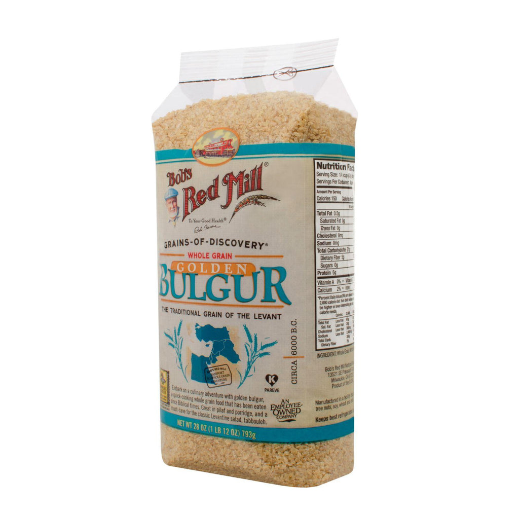 Bob's Red Mill Golden Bulgur - Soft White Wheat Ala - 28 Oz - Case Of 4-Bob's Red Mill-pantryperks
