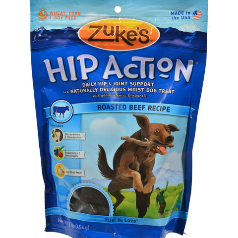 Zuke's Hip Action Daily Hip And Joint Support Treat For Dogs Beef - 1 Lb-Zuke's-pantryperks