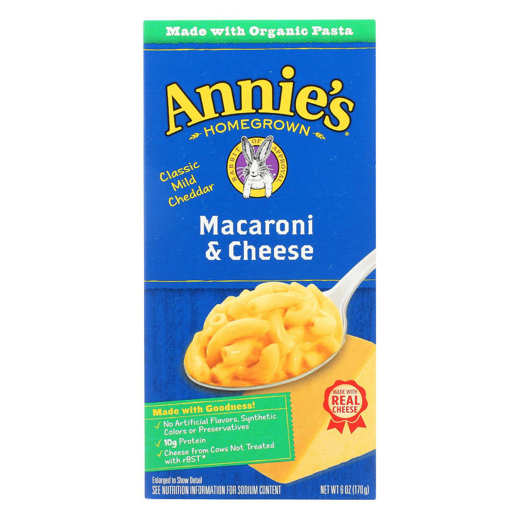 Annie's Homegrown Macaroni and Cheese Classic Mild Cheddar - 6 oz-Annie's Homegrown-pantryperks