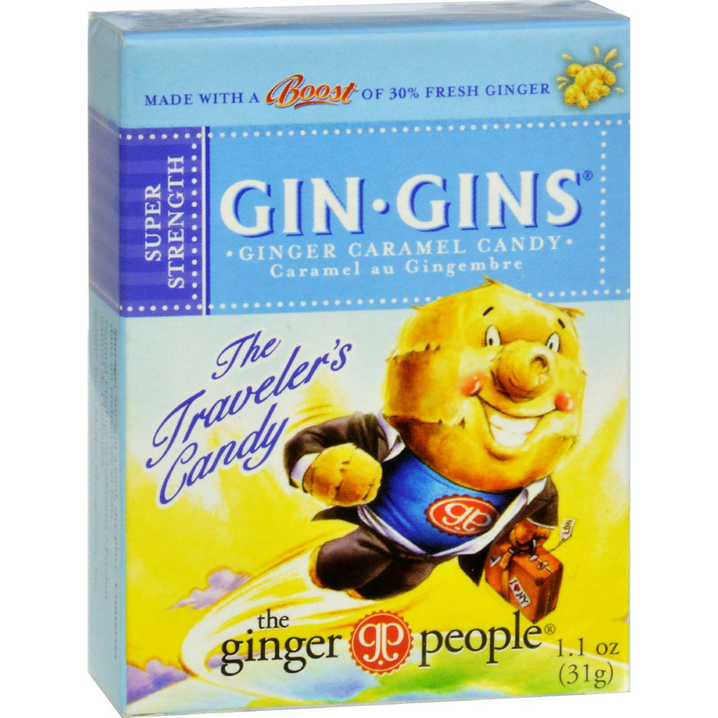 Ginger People Gingins Super Boost Candy - Case Of 24 - 1.1 Oz-Ginger People-pantryperks
