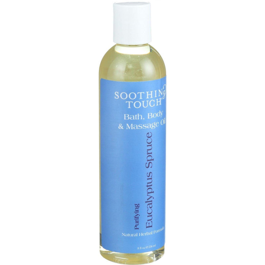 Soothing Touch Bath Body And Massage Oil - Purifying - Eucalyptus Spruce - 8 Oz-Soothing Touch-pantryperks