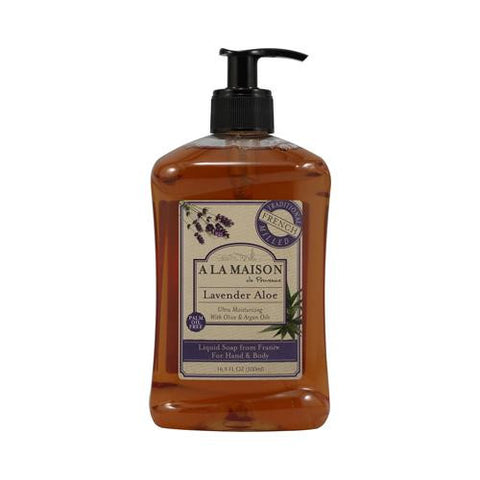 French Liquid Soap Lavender Aloe 16.90 Ounces-A La Maison-pantryperks