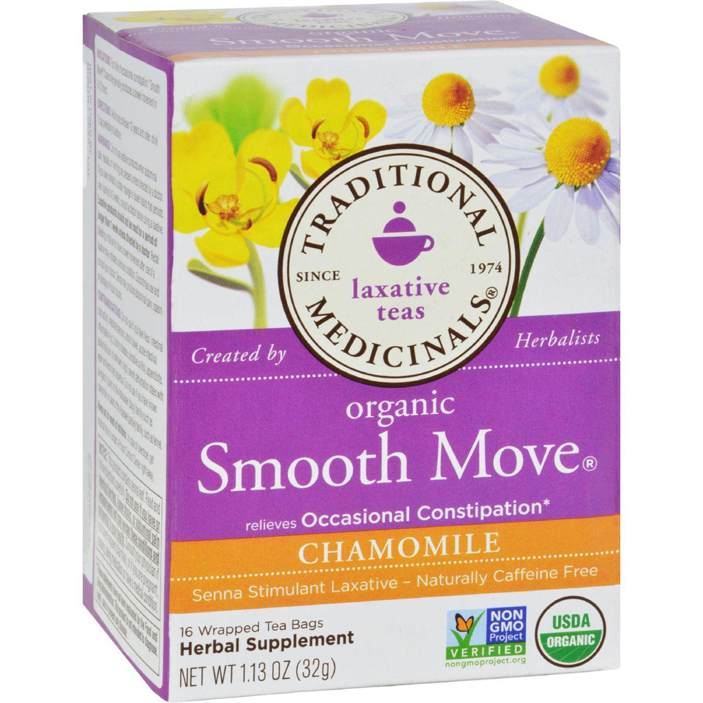 Traditional Medicinals Organic Smooth Tea - Senna Chamomile - 16 Bags-Traditional Medicinals-pantryperks