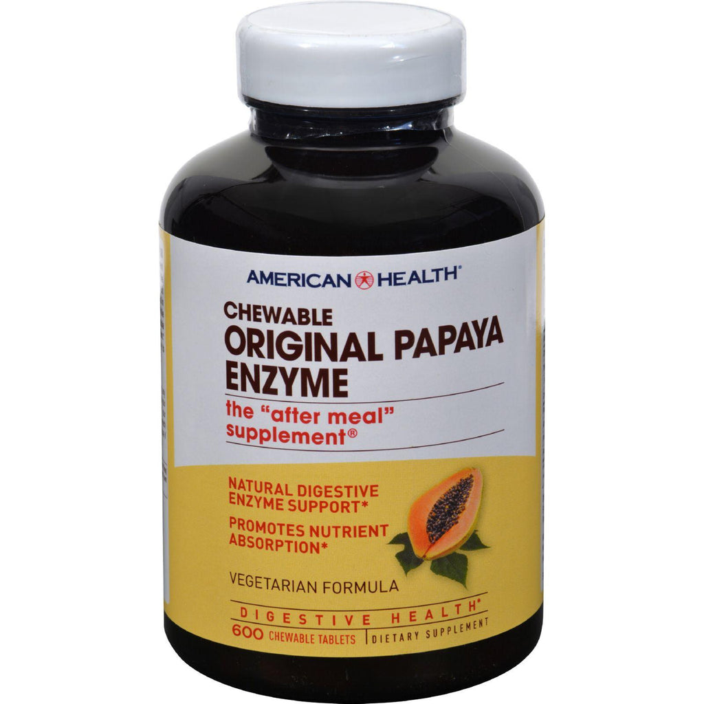 American Health Original Papaya Enzyme Chewable - 600 Tablets-American Health-pantryperks