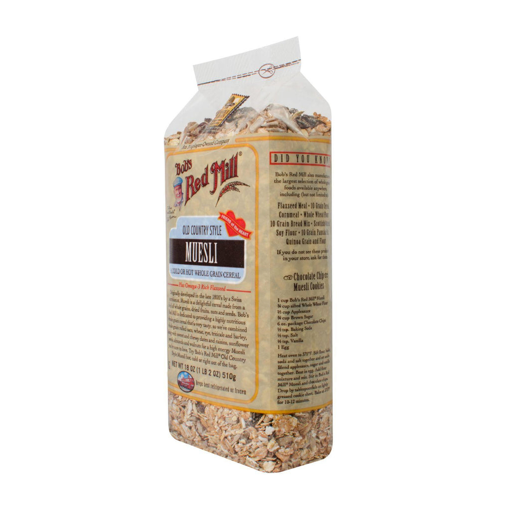 Bob's Red Mill Old Country Style Muesli Whole Grain Cereal - 18 oz-Bob's Red Mill-pantryperks