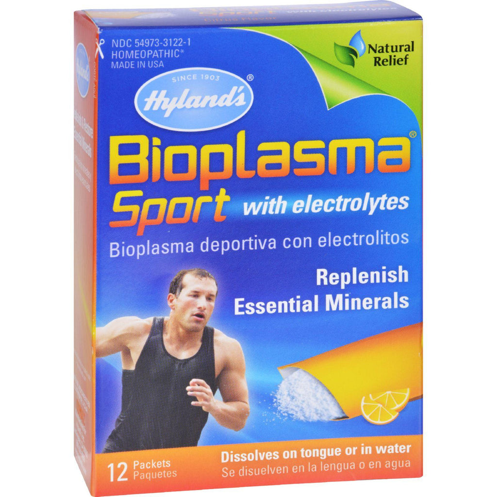 Hyland's Bioplasma Sport with Electrolytes Drink Packets - Essential Minerals - Cell Salts and Electrolyte Replenishment - 12 Count-Hyland's-pantryperks
