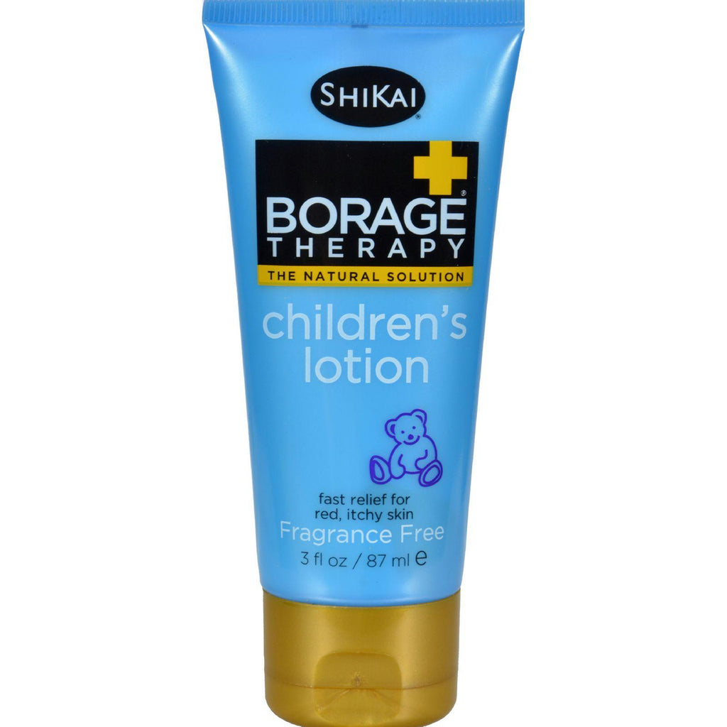Shikai Borage Therapy Children's Lotion Fragrance Free - 3 Fl Oz-Shikai Products-pantryperks